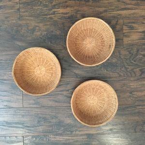 VTG 70's Split Bamboo Nesting Baskets (3)